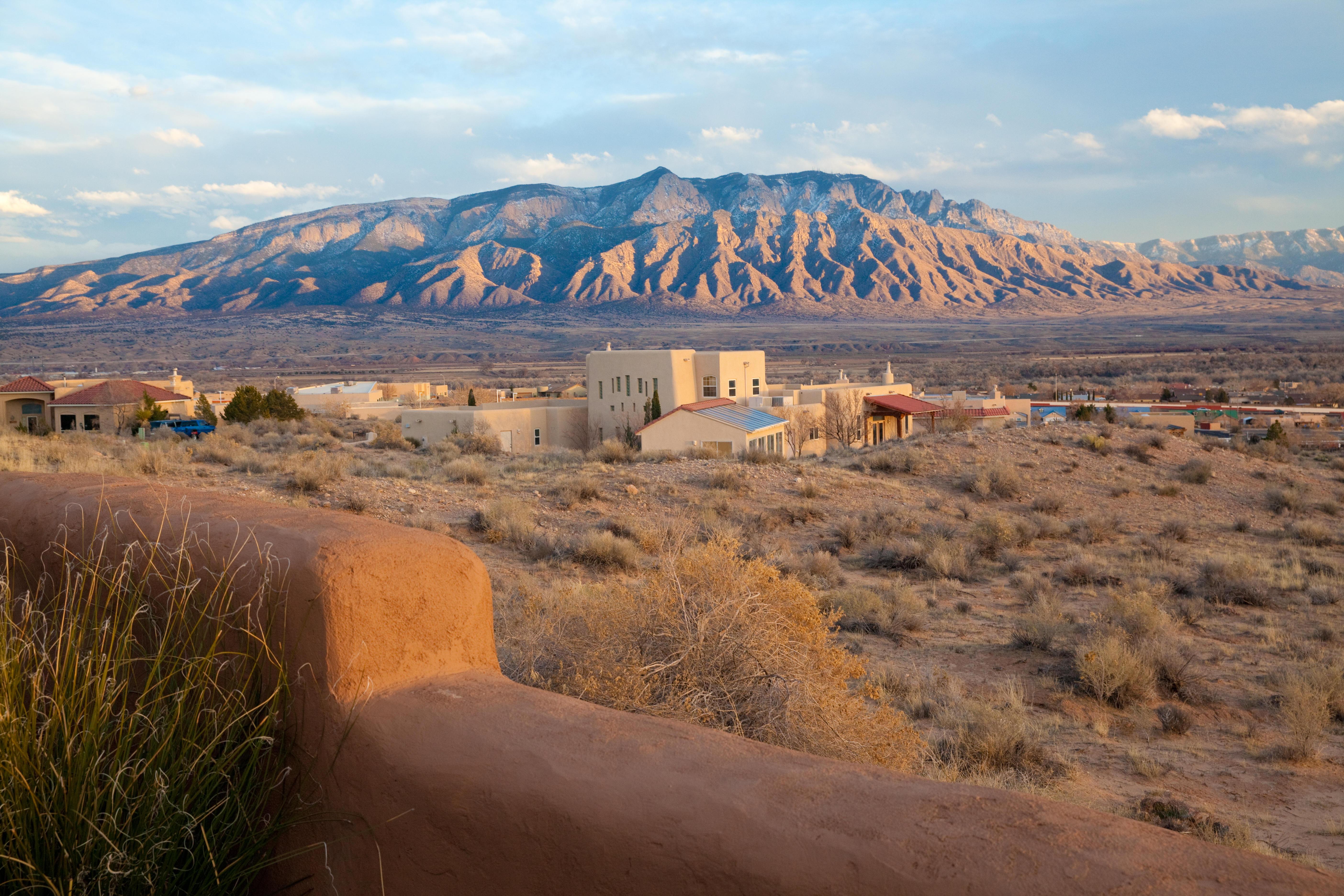 View of Sandia mountains, Albuquerque New Mexico.
