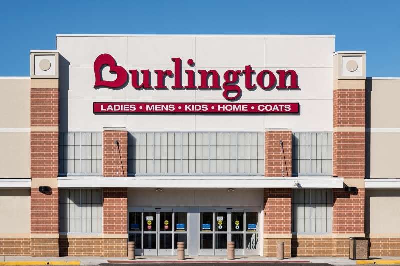 Burlington Coat Factory store exterior.