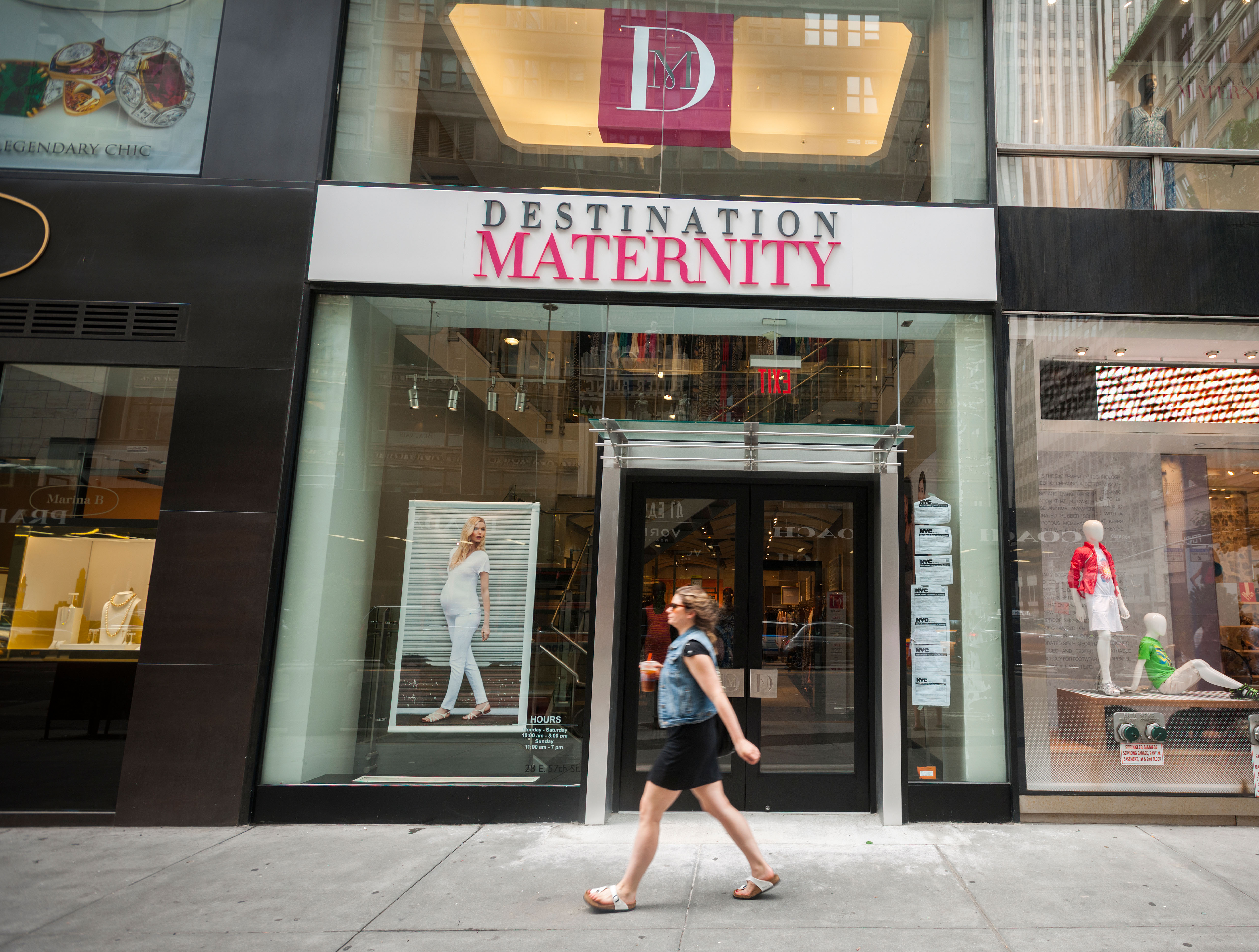 A Destination Maternity store in Midtown Manhattan in New York