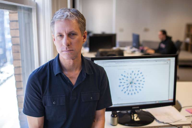 Chris Larsen, chief executive of Ripple Labs, that makes a math-based currency, at company headquarters in San Francisco, Nov. 1, 2013.