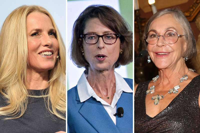From left to right: Laurene Powell Jobs, Abigail Johnson, Alice Walton are among the 10 richest women in America.