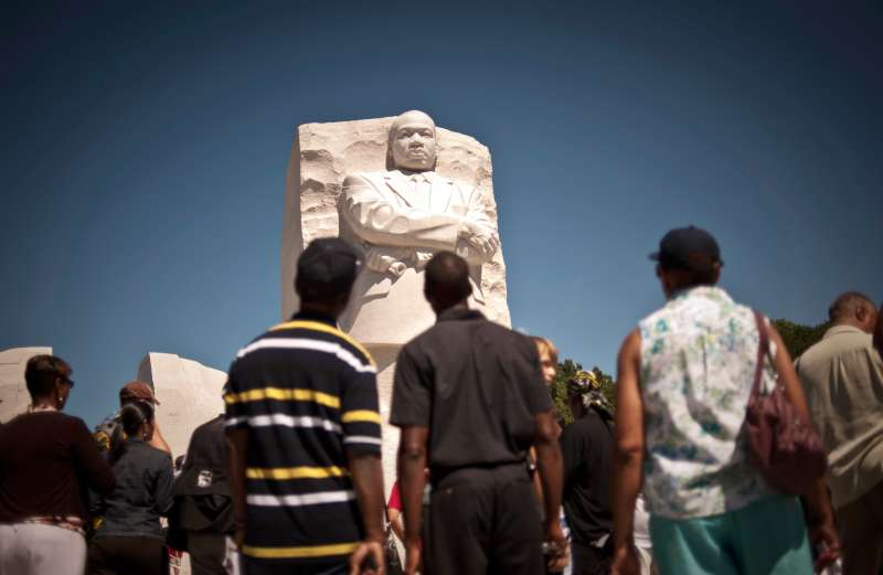 The Martin Luther King Jr. National Memorial is a 4-acre monument of stone, trees and water honoring the slain civil rights leader located along the Tidal Basin, August 22, 2011.