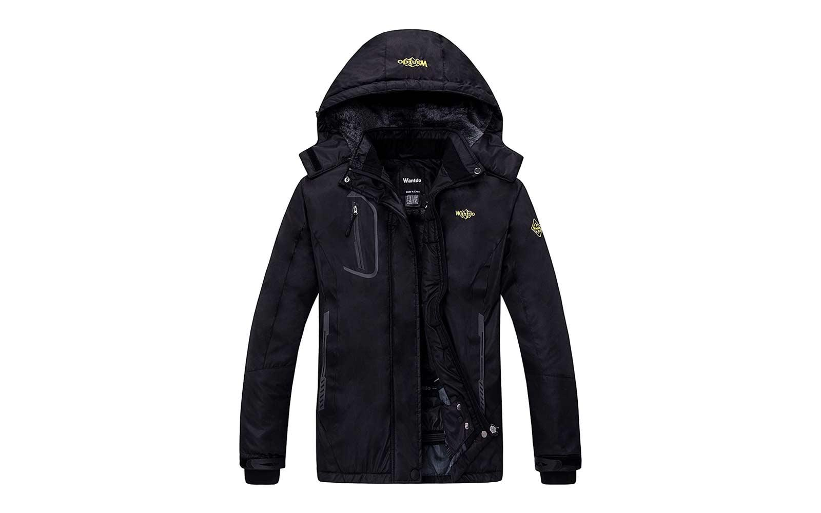 Amazon Wantdo Mountain Waterproof Fleece Ski Jacket Windproof Rain Jacket