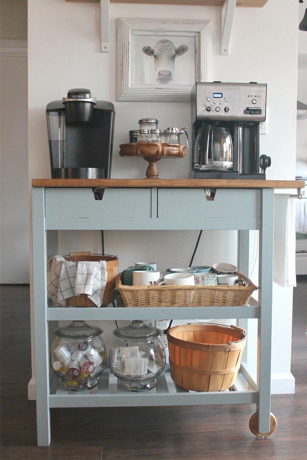 IKEA hack kitchen coffee cart