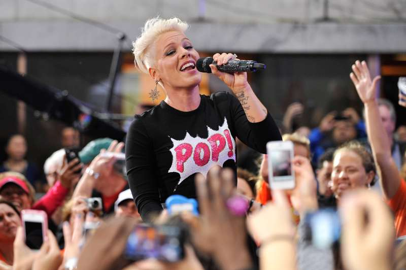 NEW YORK, NY - SEPTEMBER 18:  Pink performs on NBC's  Today  at Rockefeller Plaza on September 18, 2012 in New York City.  (Photo by D Dipasupil/FilmMagic)