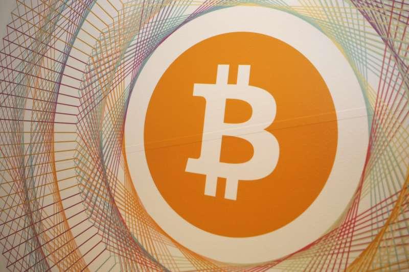 Bitcoin logo in the first Italian Bitcoin crypto currency shop