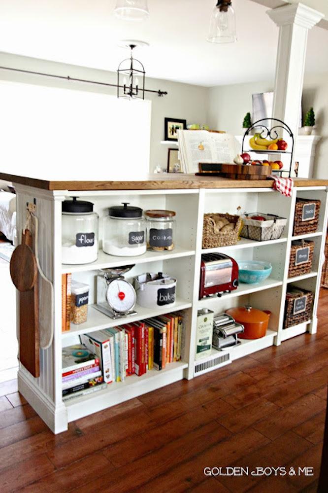 IKEA Hack BILLY bookshelf in kitchen