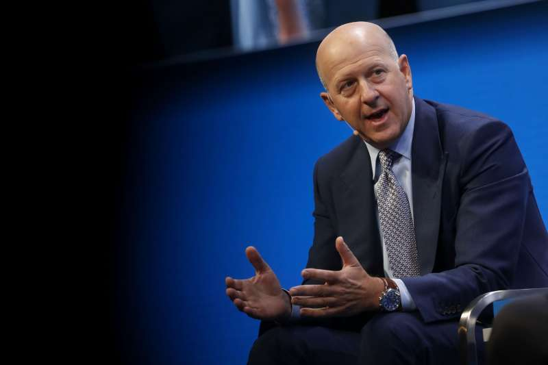 David Solomon, co-president and co-COO of Goldman Sachs, speaks during the Milken Institute Global Conference in Beverly Hills, California, on May 1, 2017
