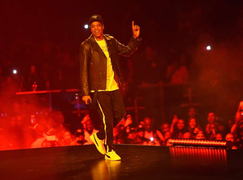 Jay-Z performs onstage during his 4:44 tour at Barclays Center of Brooklyn on November 26, 2017 in New York City.