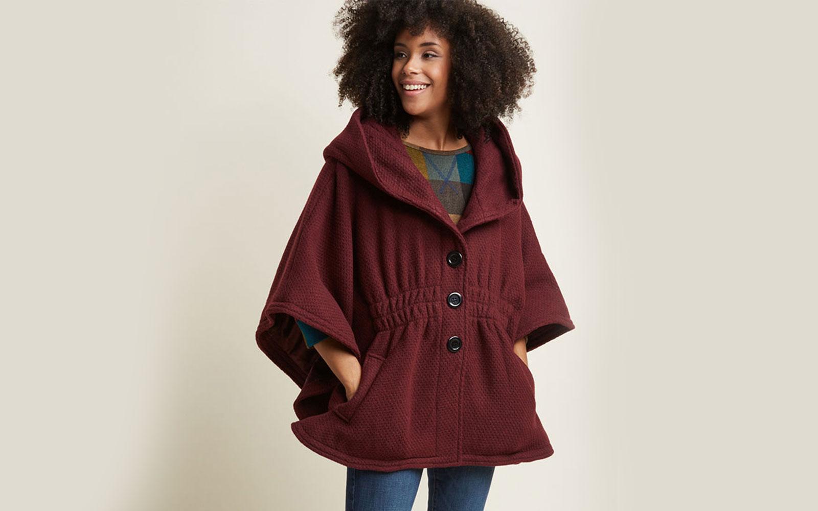 Modcloth Women's 'Hood if I Could' Cape Coat