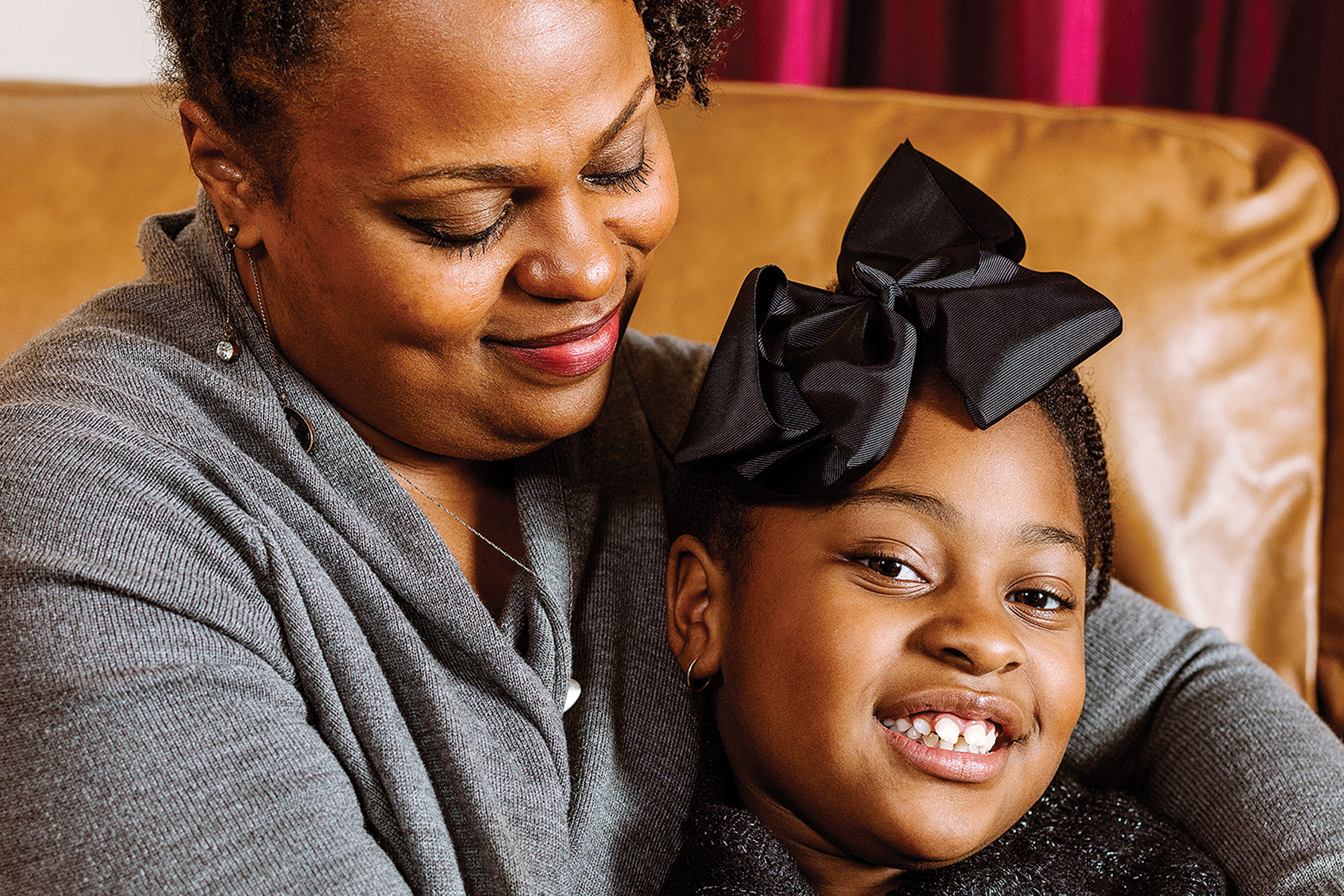 Nancy Newkirk and her daughter Nevaeh in their Greenville, N.C., home
