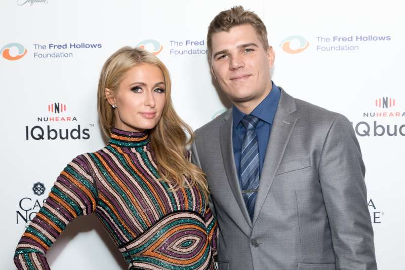 Businesswoman Paris Hilton and Actor Chris Zylka attend the Joel Edgerton Presents The Inaugural Los Angeles Gala Dinner In Support Of The Fred Hollows Foundation at DREAM Hollywood on November 15, 2017 in Hollywood, California.