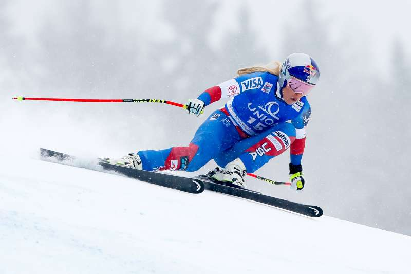 Lindsey Vonn of USA competes during the Audi FIS Alpine Ski World Cup Women's Downhill on January 14, 2018 in Bad Kleinkirchheim, Austria.