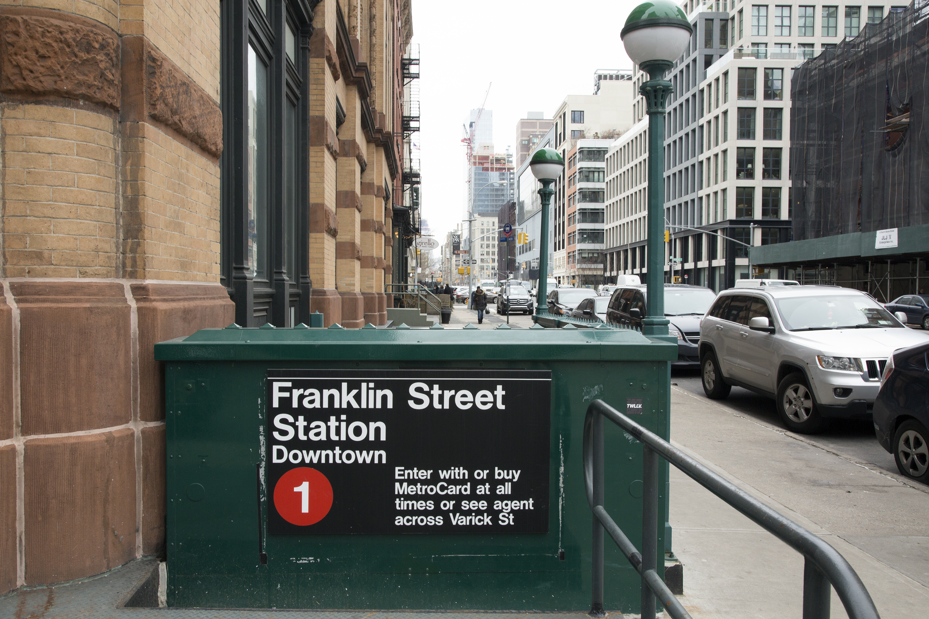 The Franklin Street Station, located at the eastern end of Swift's block, allows for easy access to the rest of the city, should Swift decide to ride the subway.
