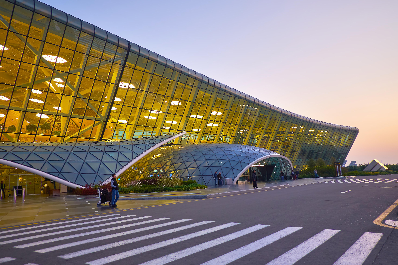 Entrances to Haider Ariev Airport