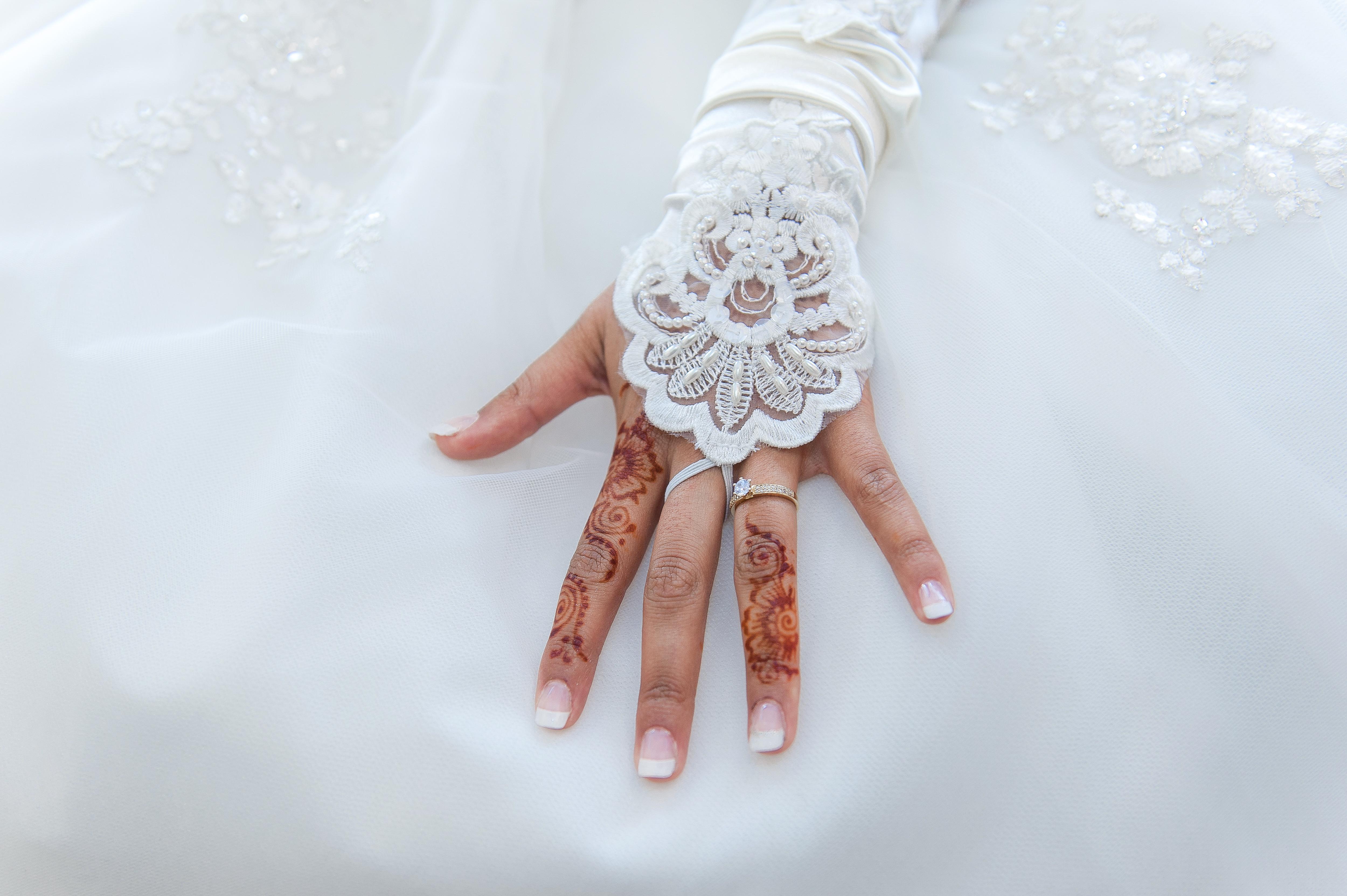 Muslim wedding hand