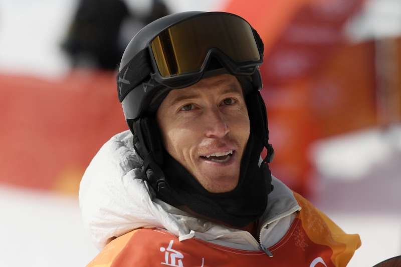 Shaun White looks on following his first run during the Snowboard Men's Halfpipe Qualification at the PyeongChang 2018 Winter Olympic Games.