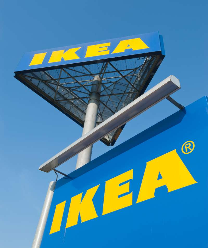 Store sign of an IKEA furniture store in Zurich Spreitenbach on September 21, 2012.