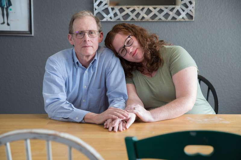 Elizabeth Moreno was billed $17,850 for a urine test. After Moreno's insurer declined to pay any of the bill because the lab was out-of-network, her father, Dr. Paul Davis, paid the lab $5,000 to settle the bill. (Julia Robinson for KHN)