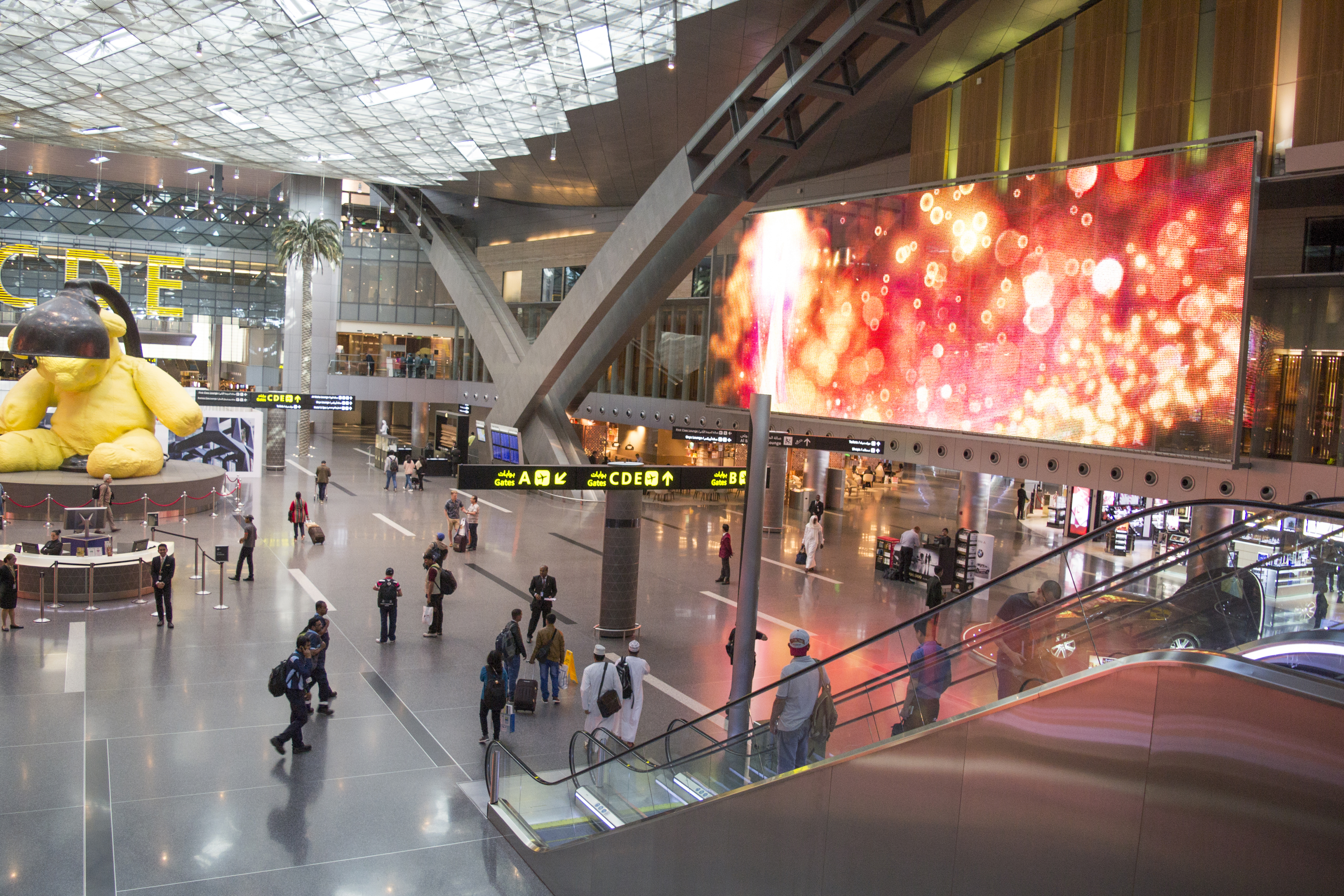 Departure lounge at Hamad International Airport