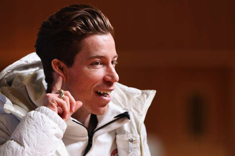 United States men's snowboarder Shaun White attends a press conference at the Main Press Centre during previews ahead of the PyeongChang 2018 Winter Olympic Games on February 8, 2018 in Pyeongchang-gun, South Korea.