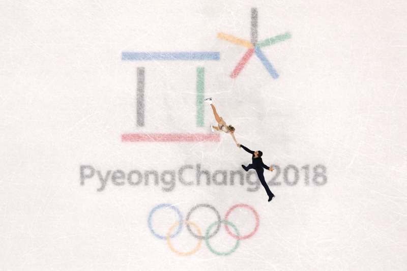 Alexa Scimeca Knierim and Chris Knierim of Team USA compete during the pairs figure skating short program on day five of the PyeongChang 2018 Winter Olympics.