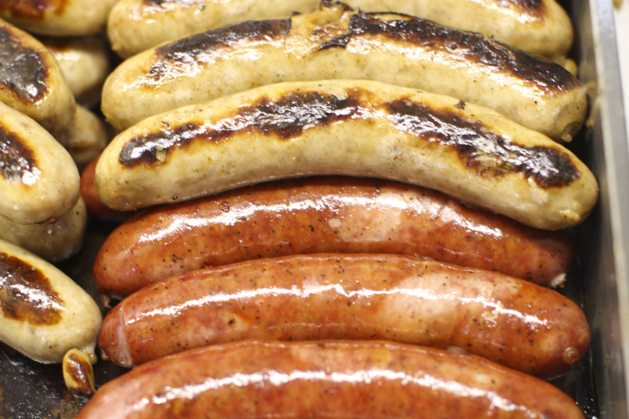 Kramarczuk's Polish sausage and bratwurst are found at two stands on the main concourse level of Target Field, July 16, 2010, Minneapolis.