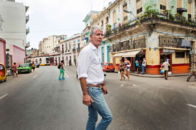 Anthony Bourdain visits Havana, Cuba on April 16, 2015.