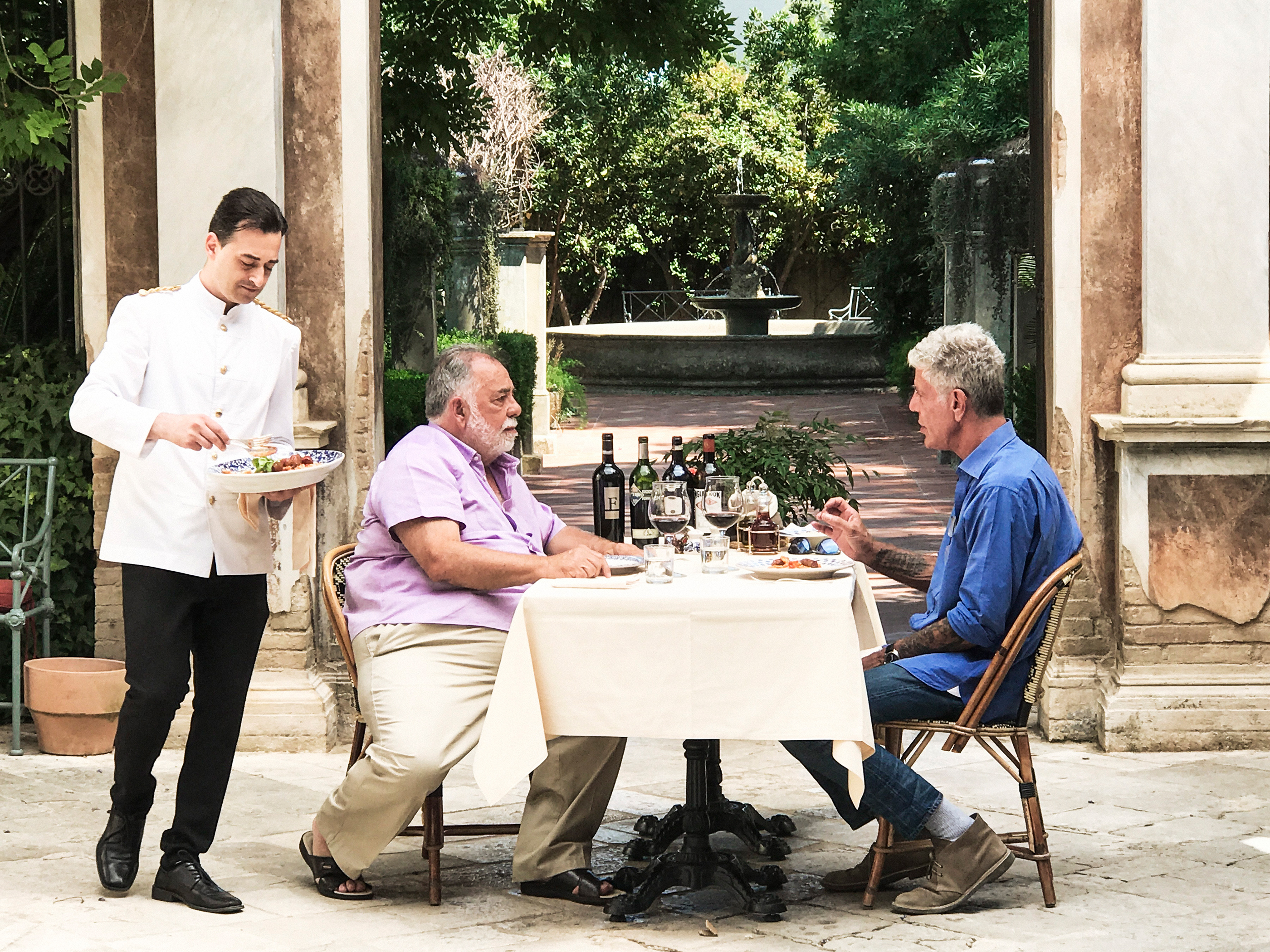 Tony and Francis Ford Coppola film Parts Unknown in Puglia.