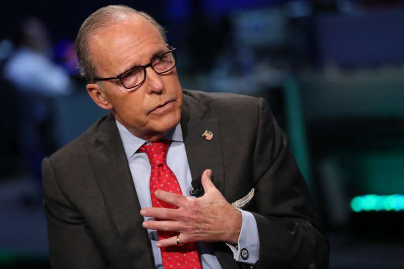 Larry Kudlow, conservative economist and former host of CNBC's  The Kudlow Report,  considering a Senate bid against Senator Blumenthal, shown here in an interview on September 15, 2015.