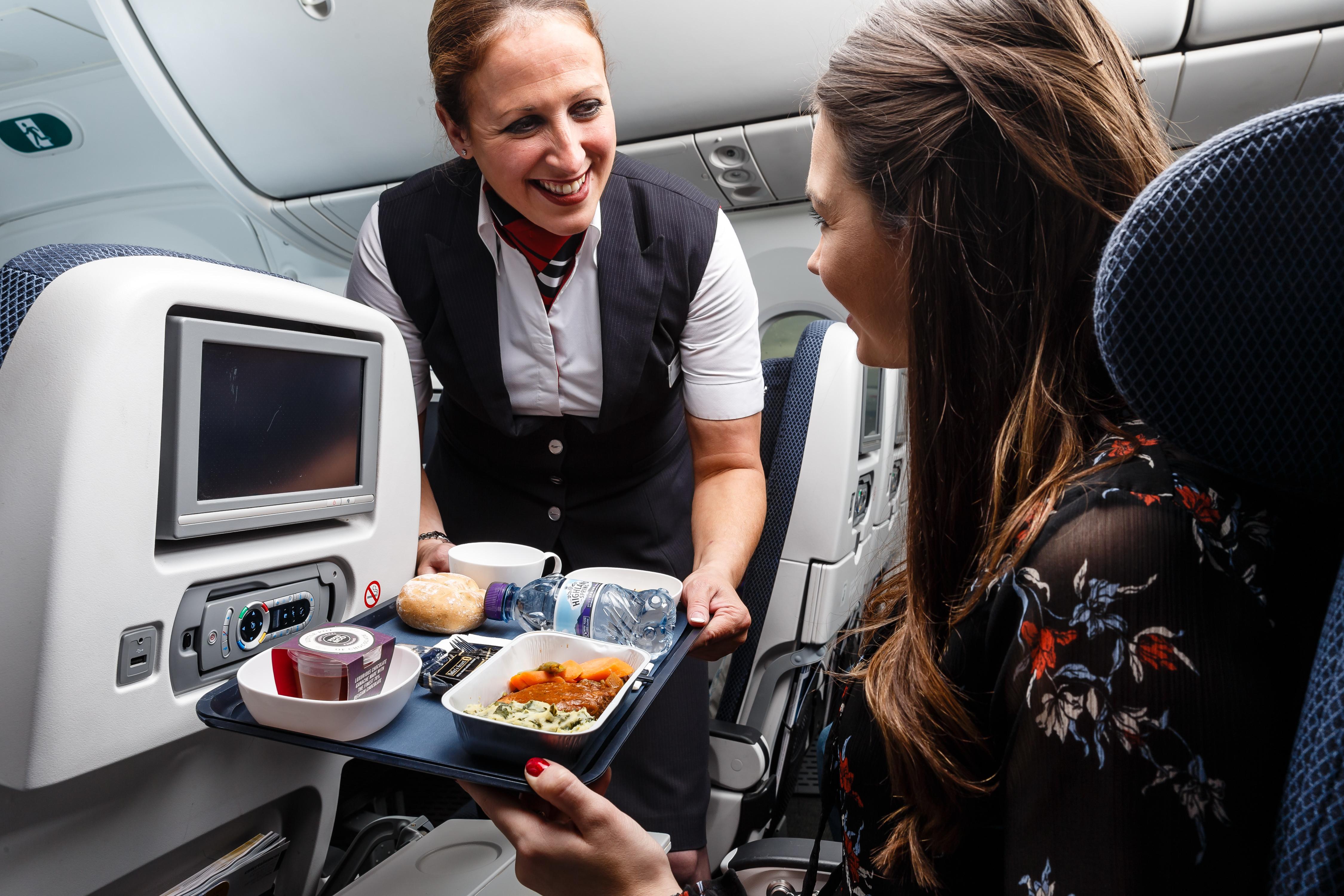 World Traveller catering, British Airways