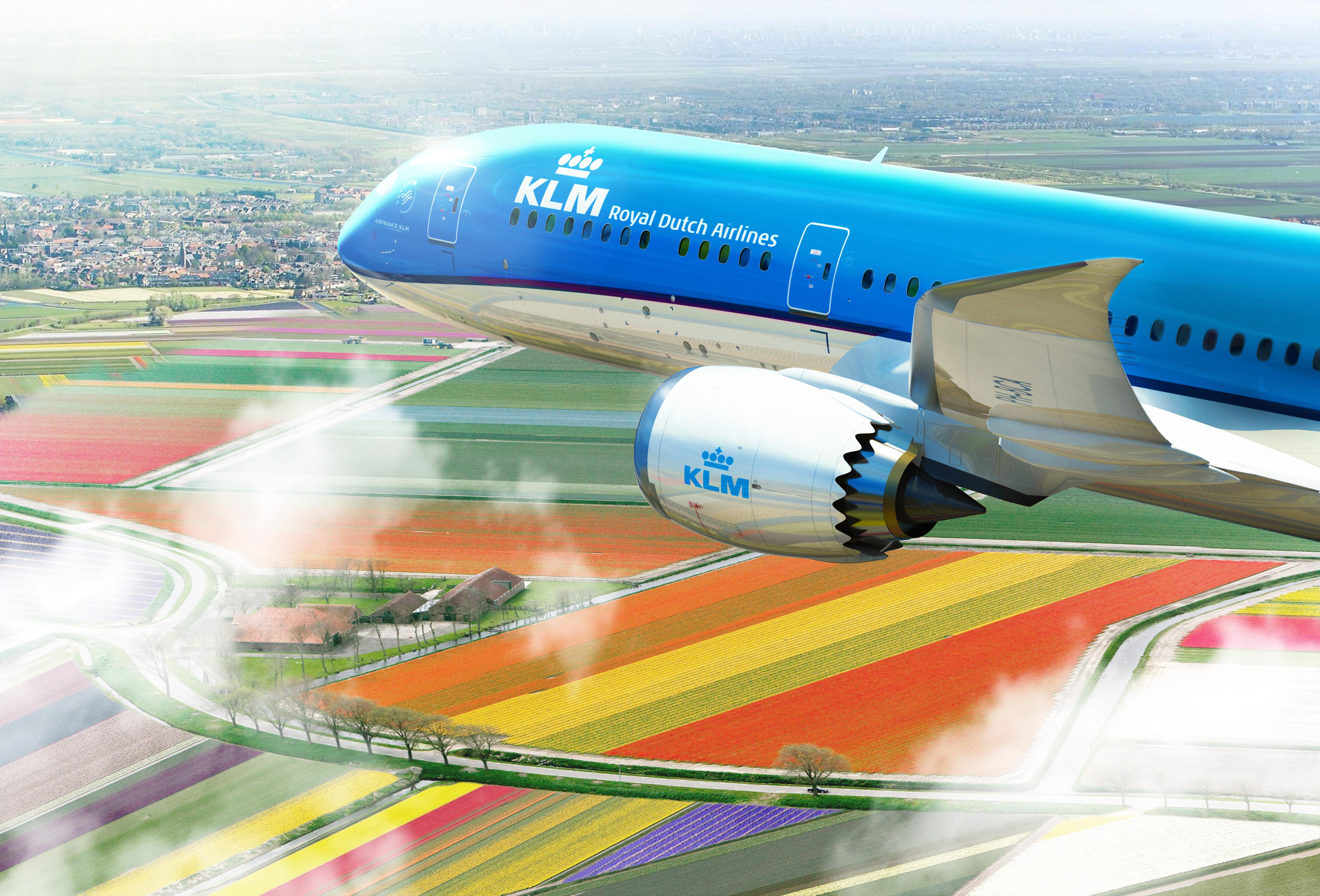 787 KLM airplane