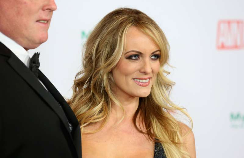 Adult film star Stormy Daniels attends the 2018 Adult Video News Awards at the Hard Rock Hotel & Casino in Las Vegas, Nev. on Jan. 27, 2018.