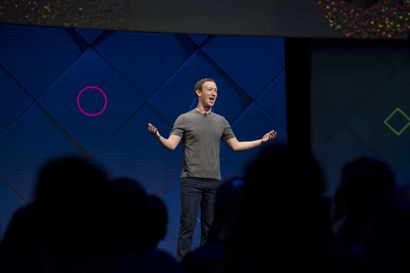 Mark Zuckerberg, chief executive officer and founder of Facebook Inc., speaks during the F8 Developers Conference in San Jose, California, on April 18, 2017.