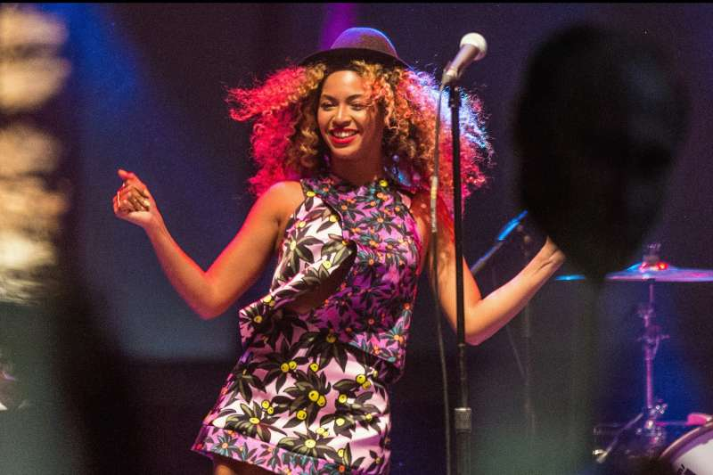 Singer Beyonce performs during day 2 of the 2014 Coachella Valley Music & Arts Festival at the Empire Polo Club on April 12, 2014 in Indio, California.