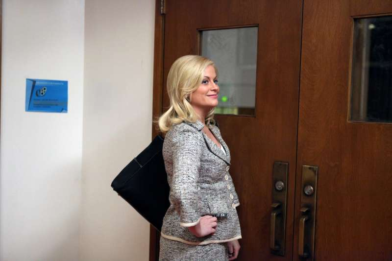Amy Poehler as Leslie Knope in  Parks and Recreation  Pilot episode