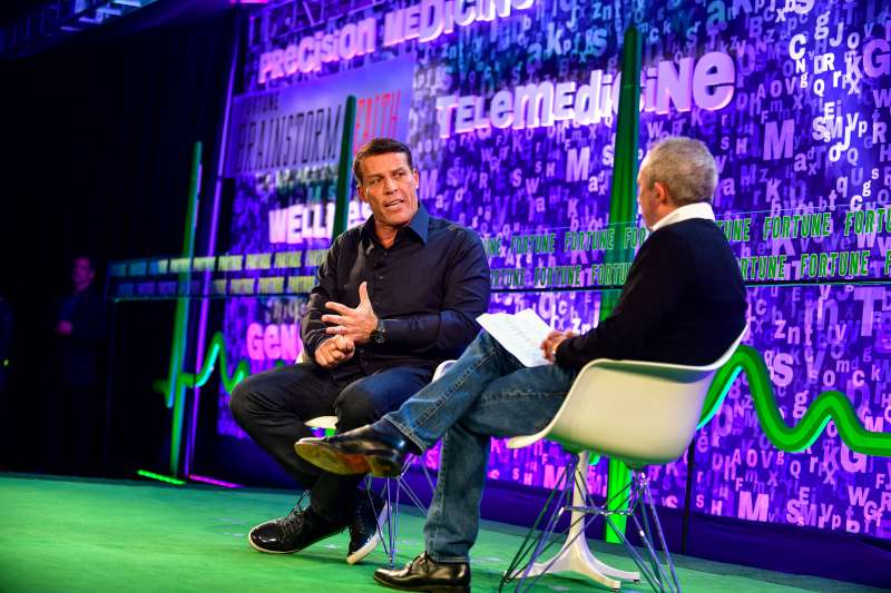 Tony Robbins appears at Fortune Brainstorm Health 2018 in Laguna Niguel, Calif., March 19, 2018.