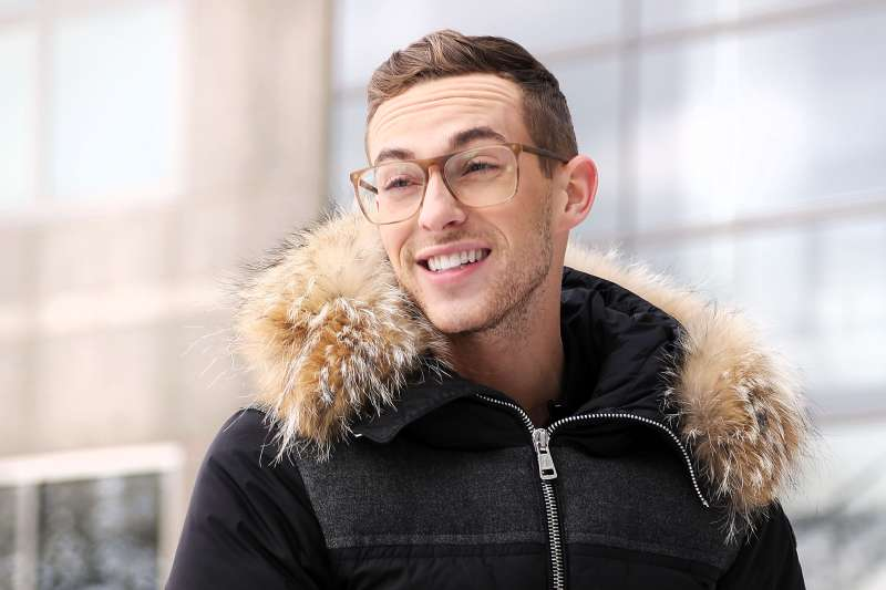 Adam Rippon at the Rink at Brookfield Place in New York on March 9, 2018.
