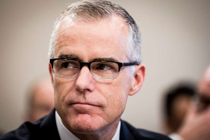 Acting FBI Director Andrew McCabe testifies before a House Appropriations subcommittee meeting on the FBI's budget requests for FY2018 on June 21, 2017 in Washington, DC.