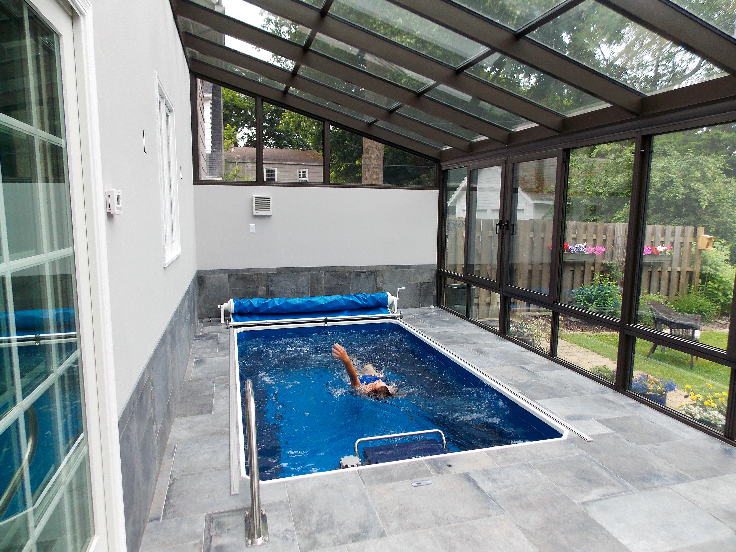 Swim all winter                                                  $24,000+                                                  With a price tag well into the six figures, installing a traditional indoor pool is going to remain a fantasy for the vast majority of us. But there are options. Swim spas—which resemble oversize hot tubs and can be installed without any ground excavation—start at $12,000 and range up to $20,000 for models with a motor to create a current you can swim against. One caveat: Spas are typically made from a single, large piece of fiberglass, meaning unless you're planning new construction or have a barn or porch to enclose the unit, fitting it into your home can be a problem.                                                  One alternative, built by Endless Pools of Aston, Pa., comes in separate pieces that can be assembled inside an existing room. The seven-by-12-foot model with swim motor costs $23,900, although that doesn't include $800 to $1,800 for shipping and another $2,000 if you want an independent contractor to help you install it, says retail sales manager Janet Luther.