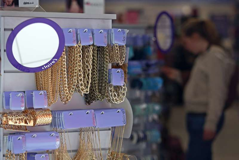 Inside a Claire's Accessories store