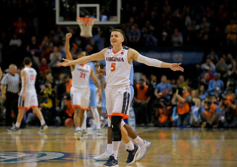The University of Virginia, which recently beat North Carolina in the ACC men's basketball tournament finals, is the overall top seed in the 2018 NCAA March Madness tournament.