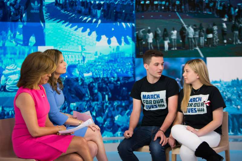Parkland students (l-r) Cameron Kasky and Jaclyn Corin appeared on  Today  to discuss March for Our Lives rallies planned for Saturday, March 24, 2018.