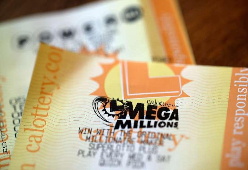 Powerball and Mega Millions lottery tickets on January 3, 2018 in San Anselmo, California.