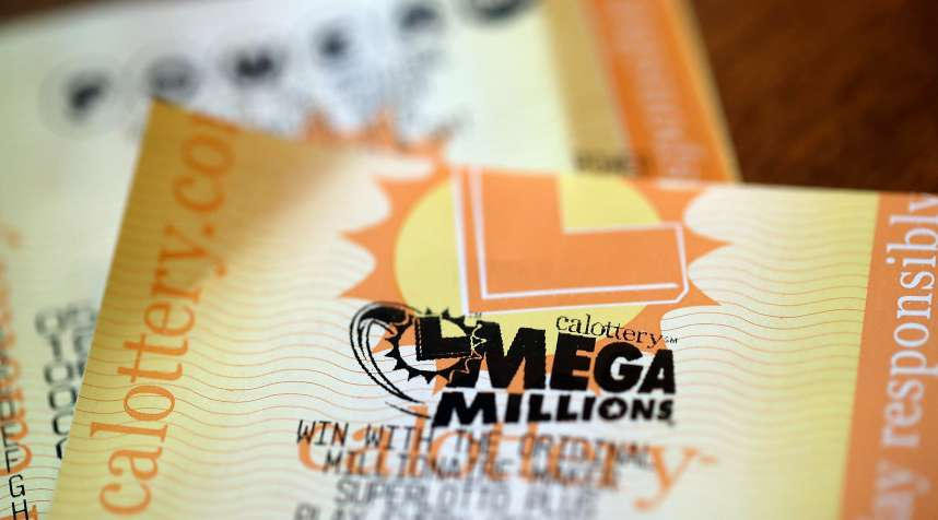 Powerball and Mega Millions lottery tickets on January 3, 2018 in San Anselmo, California.