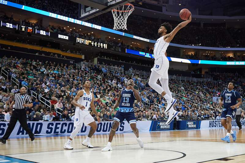 Duke beat URI to get into the Sweet 16 at the 2018 March Madness men's basketball tournament.