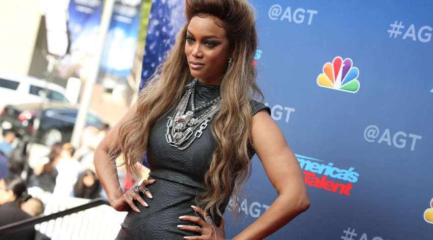 Tyra Banks attends the 'America's Got Talent' TV series red carpet kickoff, Los Angeles, March 12, 2018.
