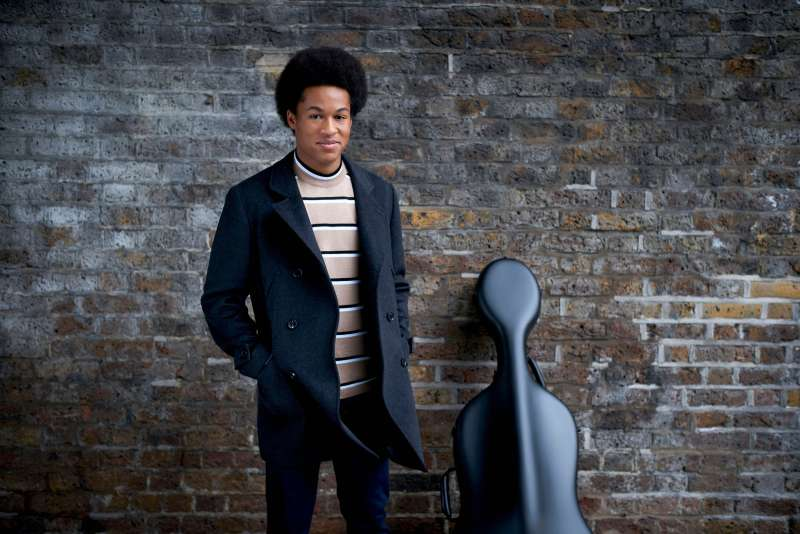 Cellist Sheku Kanneh-Mason who will be playing at the wedding next month of Prince Harry and Meghan Markle in St George's Chapel in Windsor Castle, April 24, 2018.