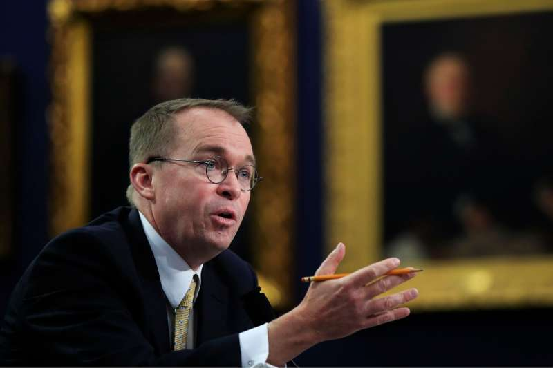 Office of Management and Budget Director Mick Mulvaney testifies before a House Appropriations Committee hearing on Capitol Hill in Washington, April 18, 2018.