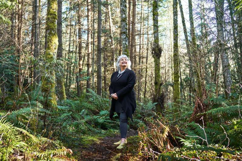 Author Vicki Robin on a favorite trail near her home in Whidbey Island, Wash., in March
